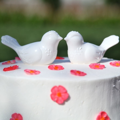 Loving Companion Lovebird Cake Toppers
