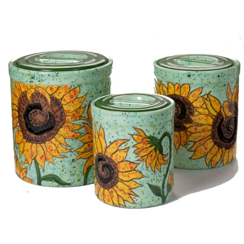 Musings of an Artist Sunflower Canisters