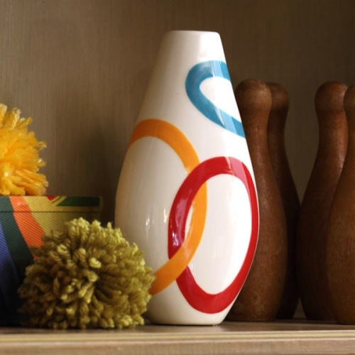 Rings Around the Rosy Bud Vase