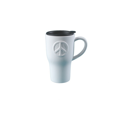 "Travel Tasse ""Peace"" m. Silikond. h.14cm"