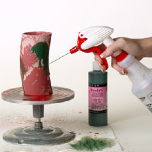 Glaze Spritzing Technique