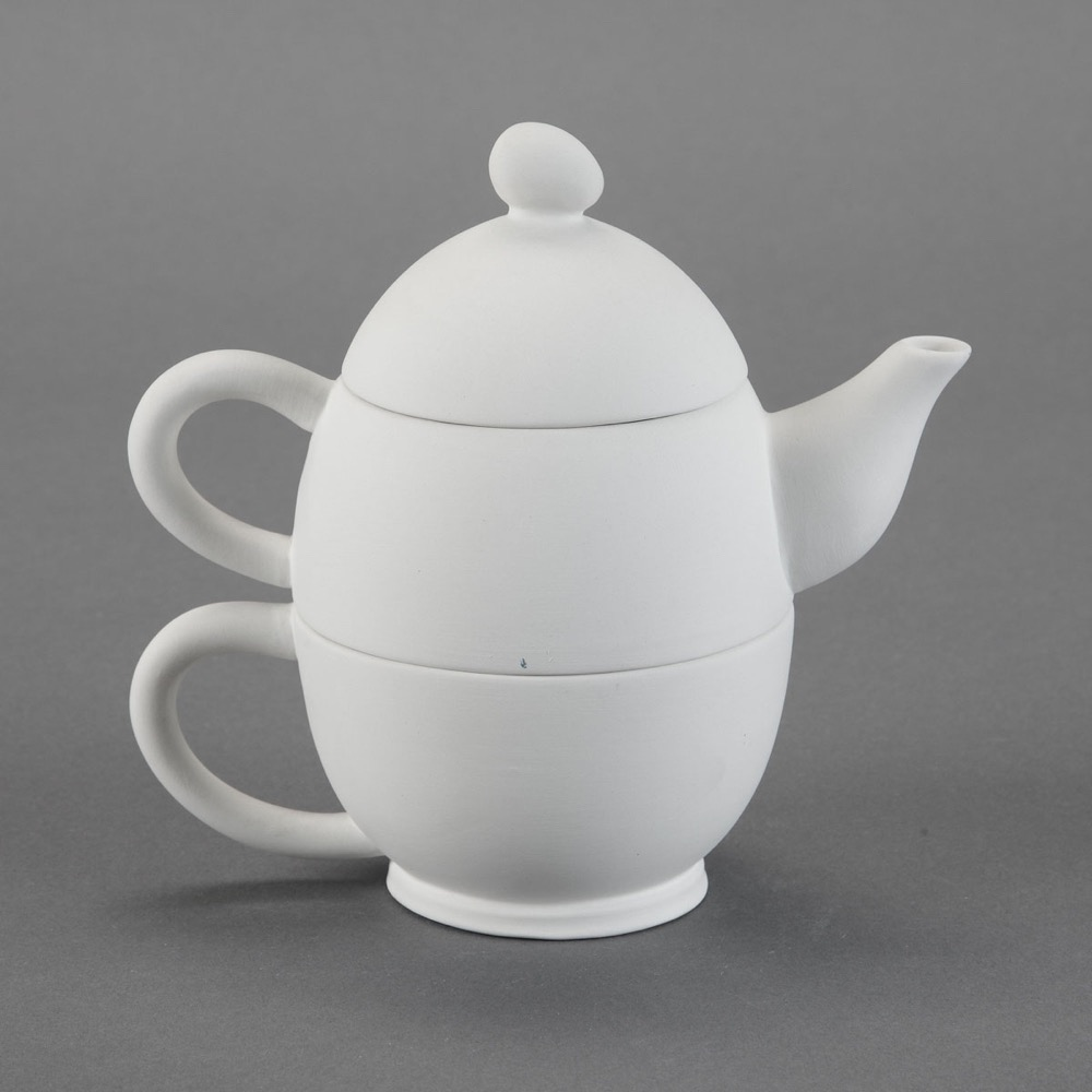 """Tea-For-one""  Kanne mit Tasse h.17cm"